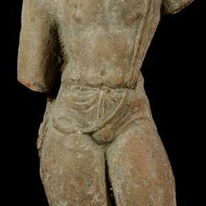 パキスタンの菩薩像 残欠(テラコッタ製)