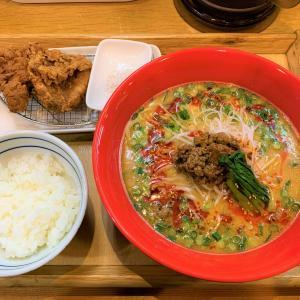 青森県佐井村  行列のできる人気店、はなまるラーメンで絶品の坦々麺と唐揚げを味わう。