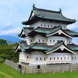 青森県弘前市 秋晴れの弘前城公園の後、城南山忠で絶品の津軽中華を味わう。