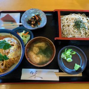 青森県青森市 戸山地区は隠れた名店多し。長久庵のボリュームたっぷりカツ丼セット。