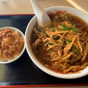 青森県むつ市 みかさ亭のルースー麺と豚丼は最高です。