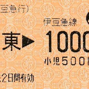 伊豆急行の乗車券