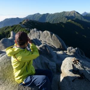 親子登山で燕岳その4 ~頂上~