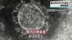 50代男性1人感染 計446人(NHK 令和2年11月23日 19時04分)