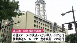 富山市12月補正予算案 新型コロナ対策費含む一般会計6億2600万円(BBT 令和2年11月24日 12時00分)