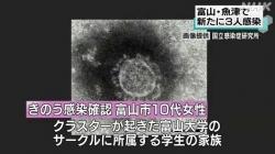 コロナ3人感染 計453人に(NHK 令和2年11月26日 19時44分)