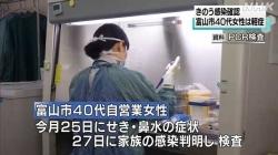 コロナ感染の40代女性は軽症(NHK 令和2年11月30日 19時16分)