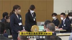 富山市長選・市議選始まる 各候補者第一声は(BBT 令和3年4月11日 18時00分)