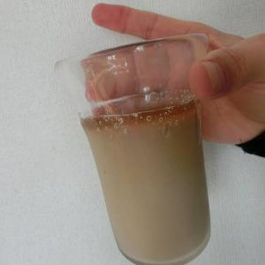 「coffee牛乳」と自作の遠い遠い想い出「ガラス吹き」のMY手作りグラス