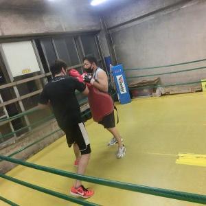 今日のボクシング (8/1・土曜日) 森田プロと2set=140分間の夜 ③ @ おやじボクサー