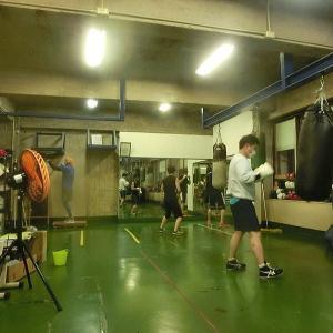 今日のボクシング (8/1・土曜日) 森田プロと2set=140分間の夜 ② @ おやじボクサー