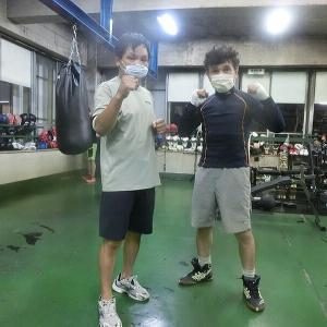 今日のボクシング(9/5・土曜日) 森田プロと2set対戦 @ おやじボクサー