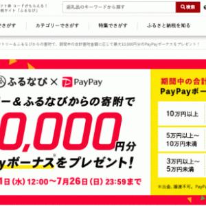 ふるさと納税で返礼品+10%のPayPayボーナスを獲得可能!キャンペーンが壮絶