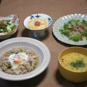 豚バラと冥加のさっと煮・カンパチの生ハム風