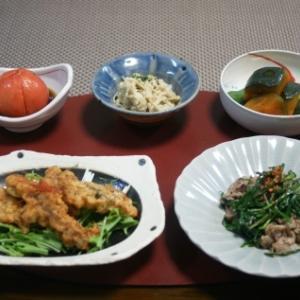 鯖天・豚とエシャレットの炒め物☆今年の柚子
