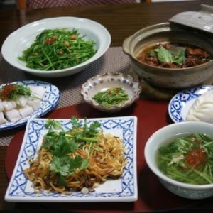 お茶屋さんで台湾家庭料理&お家で台湾野菜の晩ご飯