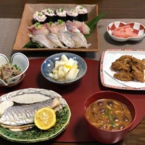 釣った魚でお寿司・塩焼き・エスニック揚げ☆お料理三昧な日曜日