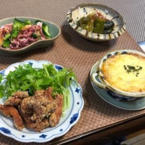 鶏の紅麹揚げ・剣先ミートソースグラタン☆食べ散らかしCHICA