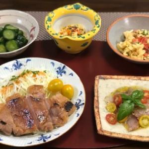 豚味噌漬け・鰺の生ハム風カルパッチョ☆箱入り娘