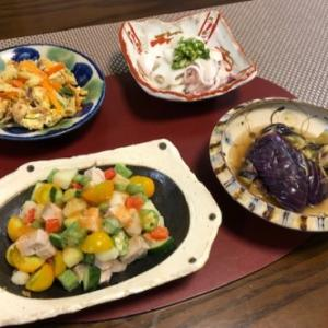 チョップドサラダ・揚げない揚げ浸し!?