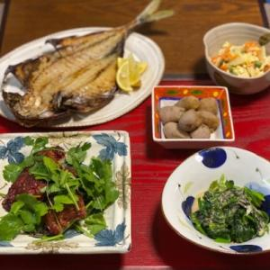 鰺の干物・紅麹漬けスペアリブ☆お片付けは迅速に^^;