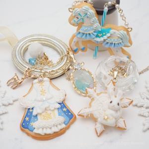 青と白が幻想的な冬のアイシングクッキー♡ *kotori garden 新作*byまでみゅ~