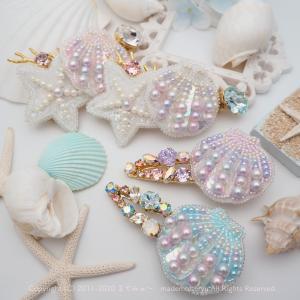 夏の海「スパンコールで作られる貝」*mon bijou 新作*