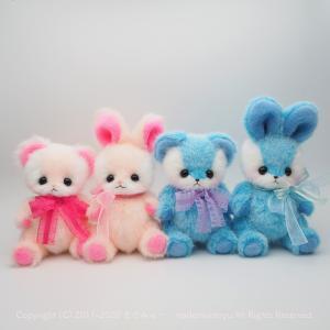 ピンクと水色のクマちゃん&うさぎちゃん♡ *yuzuchoco 新作* byまでみゅ~