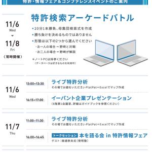 イーパテントの企画・イベント in 特許情報フェア2019
