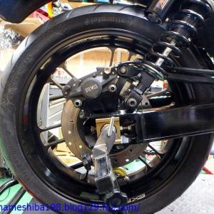 GS1207のエンジントラブル その5~リアホイール&リアブレーキ周りの微修正と基本整備