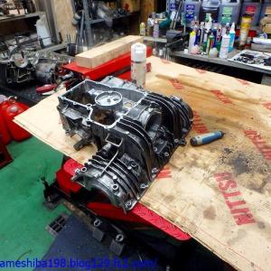OさんのGS1000エンジンオーバーホール その5~各パートのチェックと洗浄、そしてバリ取りなどの下ごしらえ