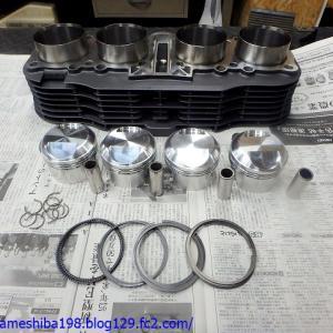 OさんのGS1000エンジンオーバーホール その7~ピストン&シリンダーの組み立て