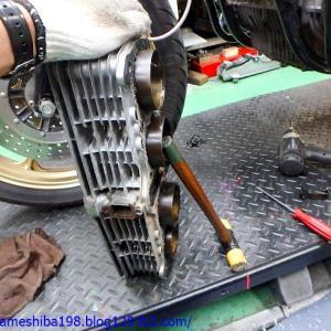H.KさんのZ1000エンジンオーバーホール その2~シリンダー&ライナーの状態