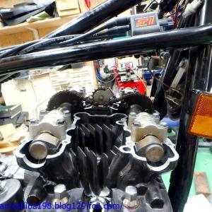 K.YさんのZ1000MK2エンジンオーバーホール その5~バルブタイミング調整を済ませてエンジン組み立て完了