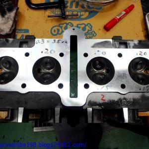 SさんのGS750エンジンオーバーホール その4~シリンダーヘッドの組み立て