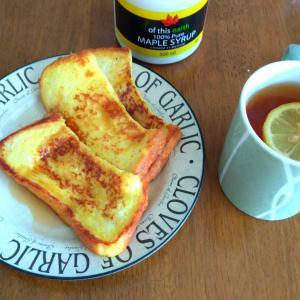 今朝はフレンチトースト