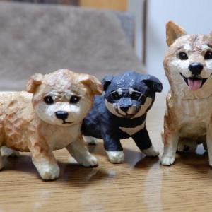 はしもとみおさん 犬彫刻ガチャ♪