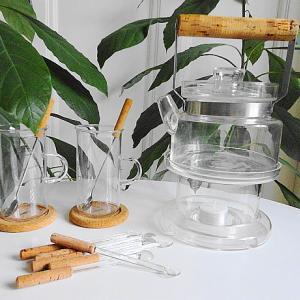 BODA NOVA ガラス・ポット & ウォーマー と ガラス・カップ