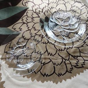 ARABIA社製、ピオニPIONI クリスタルガラス・プレート(S&M)再入荷しました
