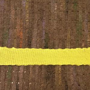 方眼編みのポロシャツセーター編み始め
