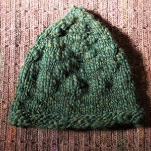 ヨーロッパの手あみ2020/秋冬 とんがり帽子完成です