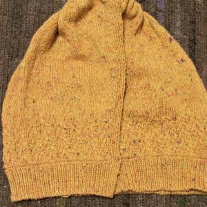 毛糸だま187michiyoさんの斜めあきカーディガン 模様編めました