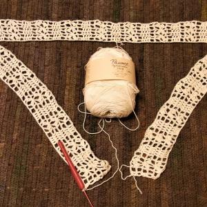 裾ドレープのカーディガン編み始め