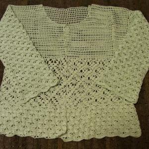 「'19 手編み大好き!」カーディガン 袖編めました
