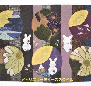 お月見ウサギのタぺとハロィーン生徒さん作品