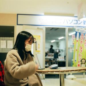 ノ―ファインダーで撮った受験生と宇都宮大学の二次試験中止