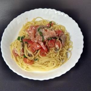 男のてきとうスパゲッティ