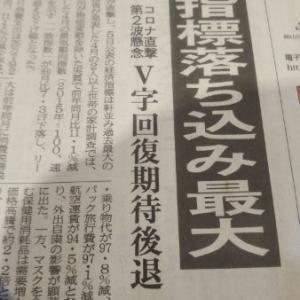 日本経済落ち込む