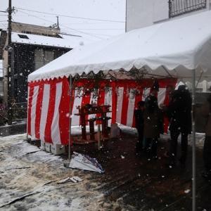 雪の地鎮祭