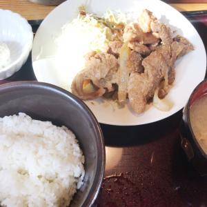 やまや 明太子食べ放題 生姜焼き定食
